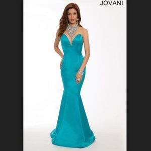 Jovani Turquoise mermaid gown